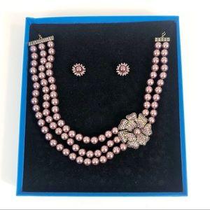 Heidi Daus Multi Strand Pearl Dogwood Necklace